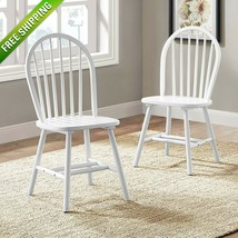 Better Homes and Gardens Autumn Lane Windsor Chairs Set of 2 Farmhouse W... - $95.00