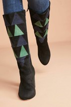 Anthropologie Farylrobin Frances Corduroy Inset Boots $228  - NWOB - $101.99