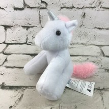 Blue Panda Unicorn Plush Stuffed Fantasy Animal Toy White Pink Silver Horn  - $9.89
