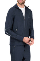 Hugo Boss Men's Slim Fit Zip Up Sweatshirt Track Jacket Sicon 50392858 Navy