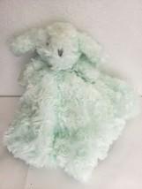 Blankets & Beyond Mint Green Bunny Rabbit Puppy Nunu Swirl Security Lovey - $19.78