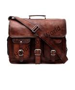 Men's Leather Vintage Brown Messenger Shoulder Laptop Briefcase Bag Diwa... - $74.24+
