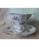 1950s ROYAL ALBERT Cup & Saucer Roses Bone China SHELLS Scalloped Gilt #... - $35.00
