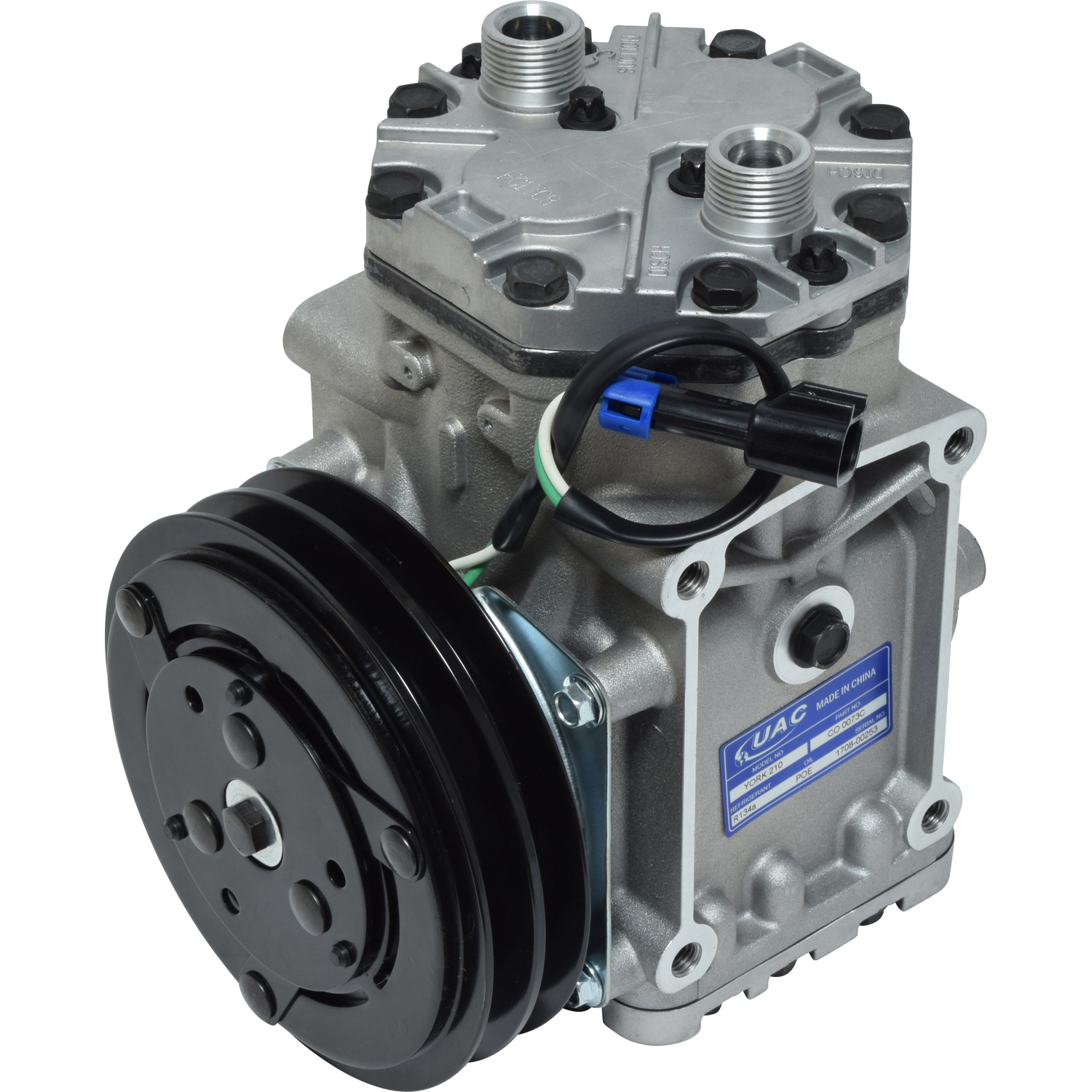 York style freightline heavy duty truck ac compressor with clutch co 0073c