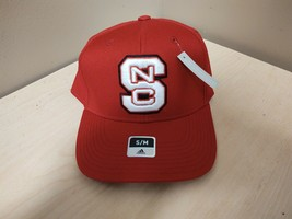 New Adidas N.C. State Wolfpack Fitted Hat Size Small/Medium S/M Red M847Z - $9.50