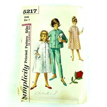 Vintage Sewing Pattern 1960 Childrens Pajama Robe Top Pants Girls Size 4... - $16.65
