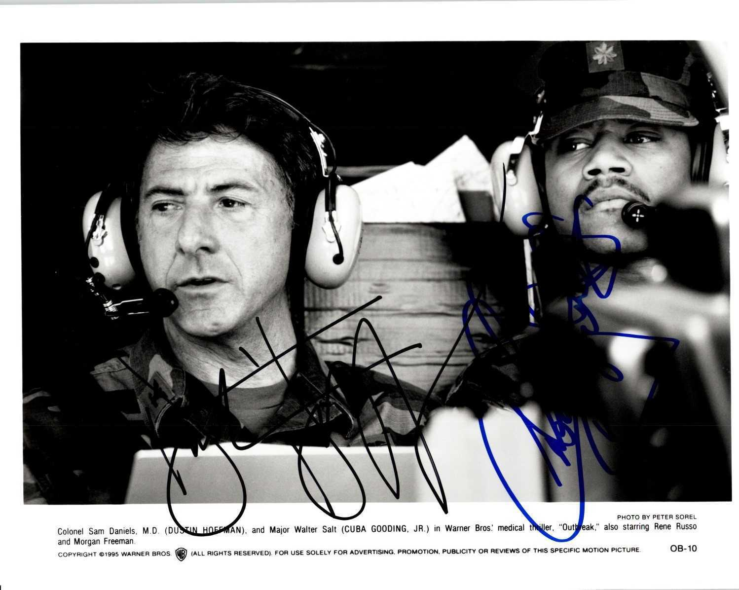 "Primary image for Dustin Hoffman & Cuba Gooding Jr. Signed Autographed ""Outbreak"" Glossy 8x10 Phot"