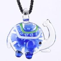 Elephant Glaze Glass Murano Necklace Glass Long Pendant 2016 Fashion Jew... - $13.56