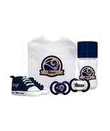 NFL Baby Fanatic Los Angeles Rams Baby Essentials 5 Piece Infant Gift Set - $45.53