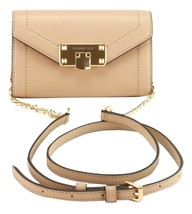 Michael Kors Kinsley Shoulder Belt Bag Bisque Beige Leather Small Handbag - $189.39