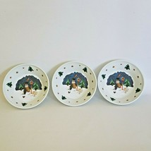 lot of 3 melamine snowman bowls kids Frosty Holiday Serving Christmas Ce... - $15.46