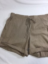Joe Fresh Women Brown Shorts Mini Nordstrom Stretch Thin  Size M - $16.83