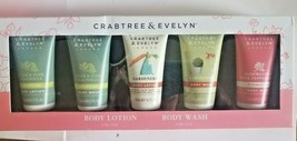 CRABTREE & EVELYN BODY LOTION & BODY WASH 5-PC GIFT SET Travel Size - $24.75
