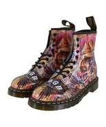 NEW Dr. Doc Martens 1460 CBGB Skull Print Leather Ankle Boots Shoes Size 10 - $147.51