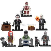 6pcs/set Zombie World Skeleton Monster Ghosts Dog Walking Dead Lego Minifigures - $11.99