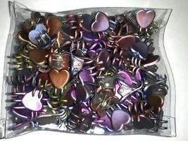 Mini Claw Heart Snap Hair Clips Dark Chrome Metallic Colors Styling Lot ... - €8,92 EUR