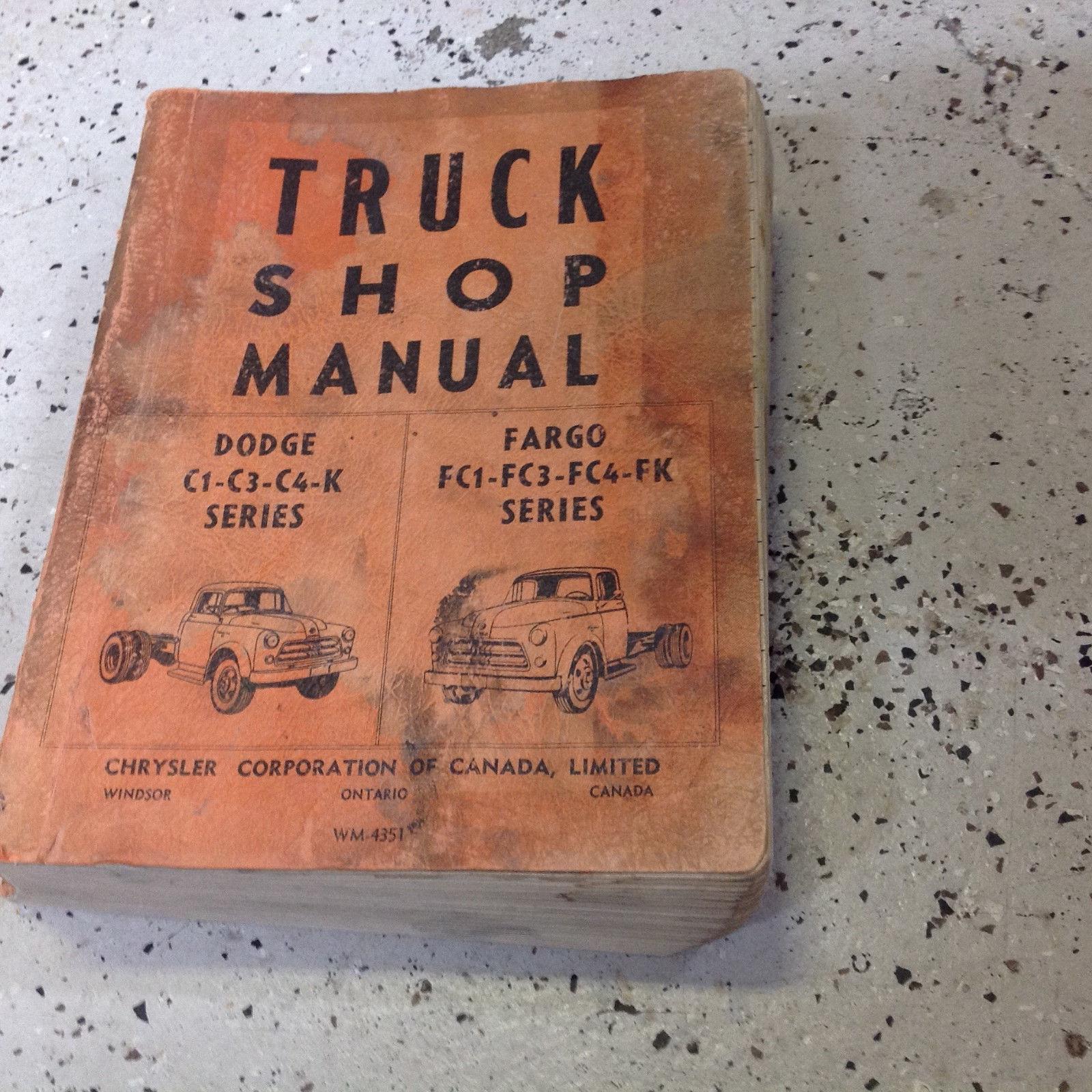 1956 1957 1958 Dodge Chrysler Fargo Truck Service Shop Repair Manual CDN OEM Wor