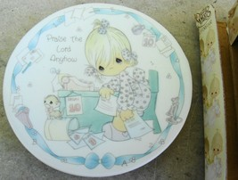 Precious Moments Mini Plate Praise the Lord Anyhow 1992 - $12.99