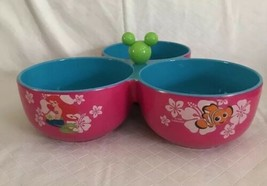 Disney Store Characters 3-Bowl Condiment Dish Nemo Tink Lilo Minnie Arie... - $21.99