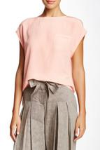 NWT $198 LAMB New Blush Pink Short Sleeve Silk Top Blouse S Womens Desig... - $198.00