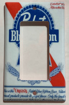 Pabst Blue Ribbon Beer Light Switch Outlet wall Cover Plate Home Decor image 3