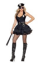 Sexy Party King Police Cop Black Halter Dress Costume PK24 ~ Also Plus S... - $49.99