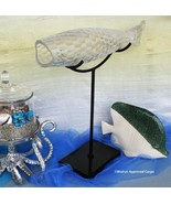 POTTERY BARN GLASS FISH OBJECT -NIB- REEL IN THIS STRIKING PIECE OF HOME... - $174.95