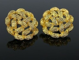 """Vintage Chunky Gold Tone Twisted Round Knot  """" MONET """" Costume Jewelry E... - $11.84"""