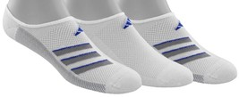 adidas Men's Climacool Superlite Super No Show Socks (3 Pack) White/Onix... - $12.41