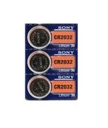 3 Sony CR2032, 3V Lithium Coin Batteries, Button Cells - $3.30