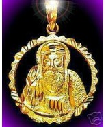 COOL 0541 Gold Plated Sikh Guru Nanak Pendant Charm Khanda - $29.82