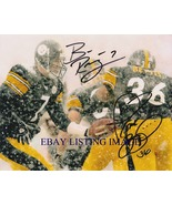 BEN ROETHLISBERGER AND JEROME BETTIS SIGNED AUTOGRAPH 8x10 RP PHOTO STEE... - $16.99