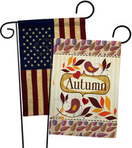 Birds Autumn - Impressions Decorative USA Vintage - Applique Garden Flag... - $30.97