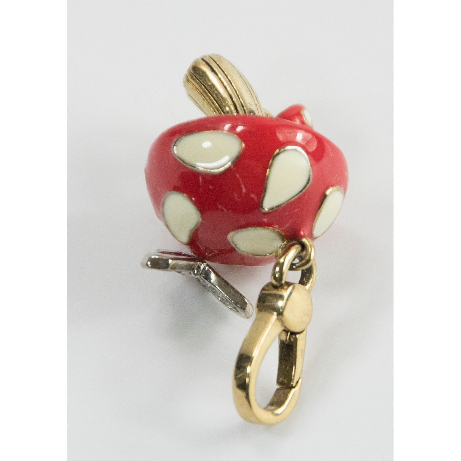 Juicy Couture Crystal Enamel Butterfly Mushroom FULL SIZE Bracelet Charm RARE