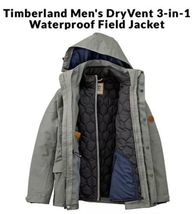 $298 NWT TIMBERLAND MEN'S 3-IN-1 WATERPROOF FIELD JACKET Hooded A1AIF433... - $169.00
