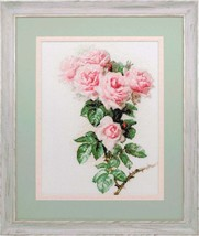 Counted Cross Stitch Hand Embroidery Kit Roses and Bumblebee - $19.55