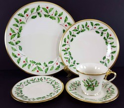LENOX China Holiday Dimension 5 Piece Place Setting Dinnerware USA image 1
