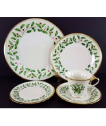 LENOX China Holiday Dimension 5 Piece Place Setting Dinnerware USA - $59.39