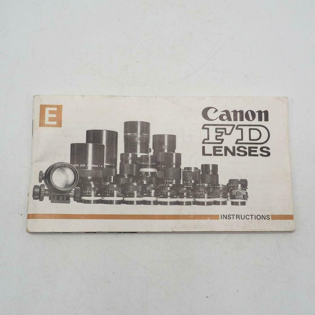Primary image for Vintage Canon FD Lenses Instructions Manual / Booklet 1970's