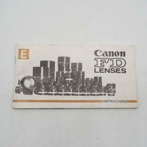 Vintage Canon FD Lenses Instructions Manual / Booklet 1970's - $33.24