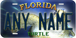 Turtle Florida Aluminum Any Name Personalized Car Novelty License Plate - $14.80