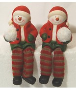 Unbranded 51696 Dangling Feet Snow Kid Set of 2 Colors Red Green White B... - $12.90