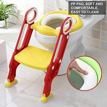 AYNEFY Potty Chair, Potty Training Seat Soft Toilet Chair Ladder Adjustable Safe image 8