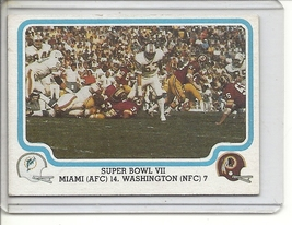 (b-30) 1979 Fleer #63 of 69: Super Bowl VII - $1.00