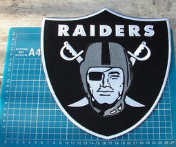 "OAKLAND RAIDERS FOOTBALL NFL SUPERBOWL 10"" HUGE PATCH EMBROIDERED JERSEY - $26.00"