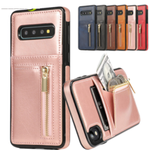 Leather wallet silicon BACK cover Case For Samsung Galaxy MODEL - $42.58