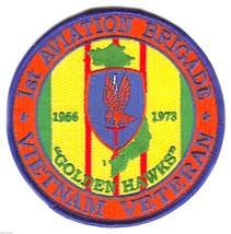 "ARMY VIETNAM VETERAN 1ST AVIATION  BRIGADE 4"" EMBROIDERED MILITARY PATCH - $18.04"