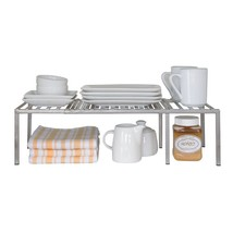 Expandable Countertop Shelf Pantry Desk Cupboard Organizer Canned Goods ... - $36.06
