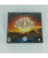 Lord of the Rings Battle for Middle Earth 2004 PC Strategy Game 4 Discs - $59.99