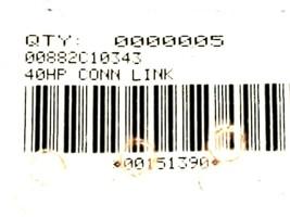 LOT OF 5 NEW GENERIC TSUBAKI 40HP CONNECTING LINKS 00882C10343 00151390 image 2